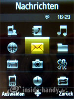 Samsung SGH-G800. Menü