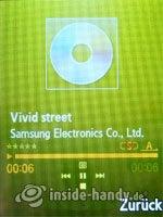 Samsung SGH-G800: Music Player