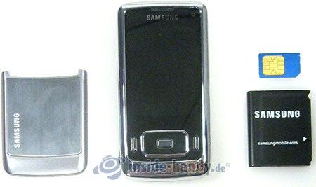 Samsung SGH-G800: offenes Gerät vorne