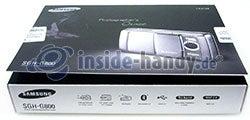 Samsung SGH-G800: Verpackung