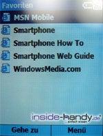 Samsung SGH-i300 - Favoriten