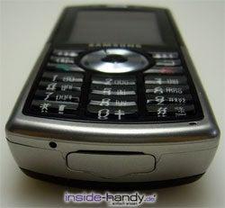 Samsung SGH-i300 - liegend von unten