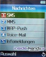 Samsung SGHP730 - Display Nachrichten