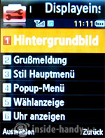 Samsung SGH-U700: Displayeinstellungen