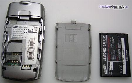 Samsung SGH-X200 - auseinander von hinten