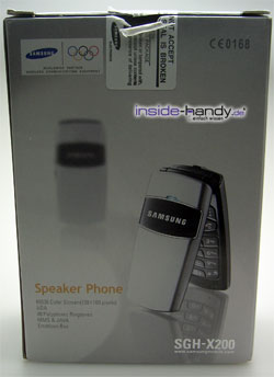 Samsung SGH-X200 - Verpackung