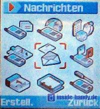 Samsung SGH-Z105 :  Display Hauptmenü