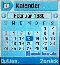 Samsung SGH-Z105 : Display Kalender