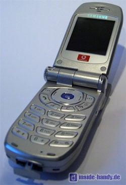 Samsung SGH-Z105 : Innenseite geöffnet