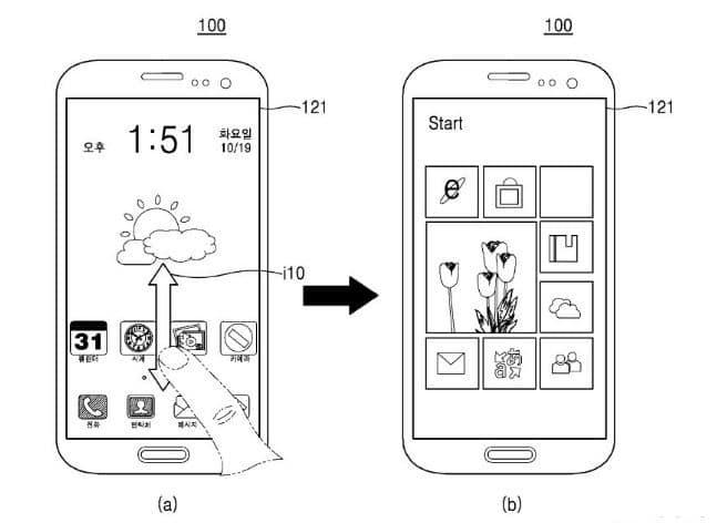 Samsung Smartphone mit Android und Windows
