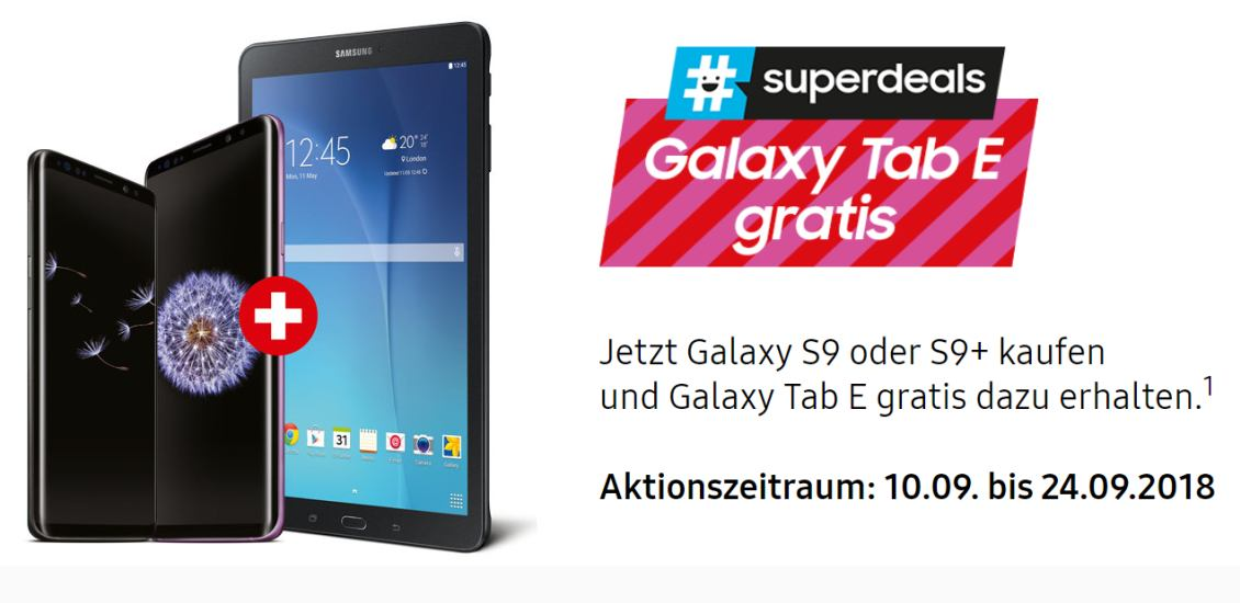 Gratis-Tablet beim Samsung Superdeal
