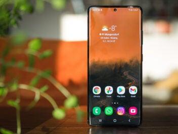 Samsung Galaxy S21 Ultra mit Android als Betriebssystem