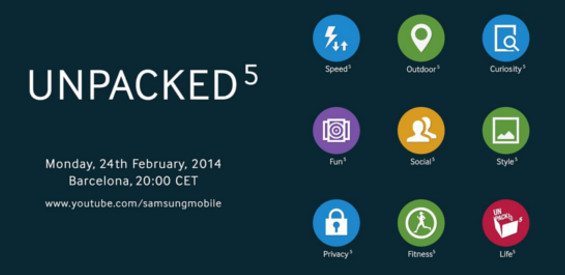 Samsung Unpacked 5 Event MWC Barcelona
