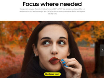 Frau auf Bild mit Schriftzug: Focus where needed