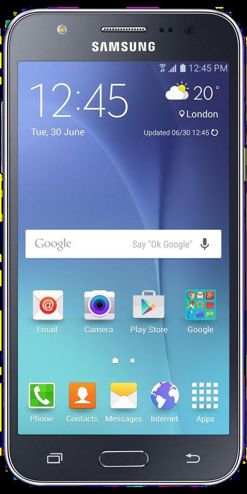 Samsung Galaxy J5 2015 Front