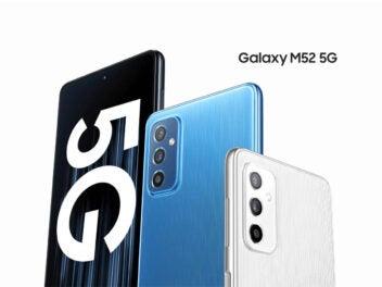Samsung Galaxy M52 5G Vorderseite und Rückseite