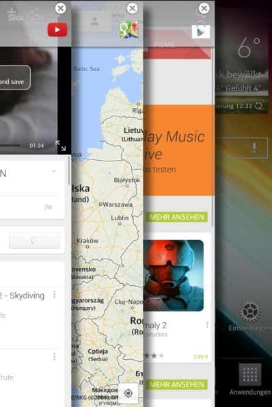Screenshot der Multitasking-Funktion beim  LG G Pad 8.3