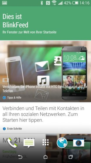 Screenshot des HTC Blinkfeed
