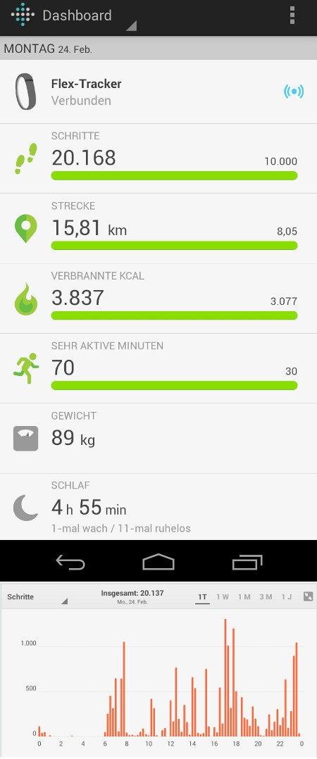 Screenshot Fitbut-App für Android