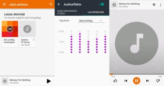 Screenshots Musikplayer Lenovo Moto Z
