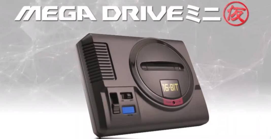 Sega Mega Drive Mini klein