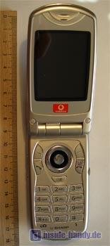 Sharp GX30 geöffnet mit Maßstab