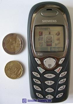 Siemens A60 - Größenvergleich