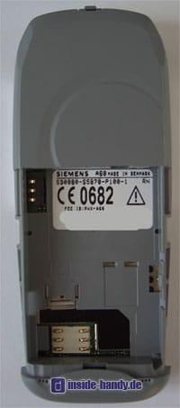 Siemens A60 - Rückseite ohne Akku