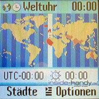Siemens C65 - Display Weltzeituhr