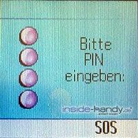Siemens C65 - Pin Eingabe