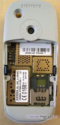 Siemens C65 - Rückseite ohne Akku