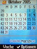 Siemens C75 - Kalender