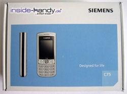 Siemens C75 - Verpackung