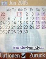 Siemens CL 75 - Kalender