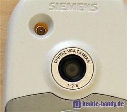 Siemens CX 65 - Kameralinse und Antennenanschluss