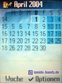 Siemens M65 - Display Kalender