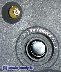 Siemens M65 - Kameralinse und Antennenschluss