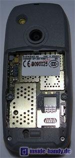 Siemens M65 - Rückseite ohne Akku