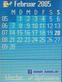 Siemens S65 : Display Kalender