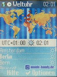 Siemens S65 : Display Weltuhr