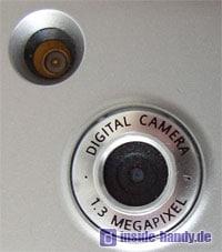 Siemens S65 : Kameralinse und Antennenanschluss