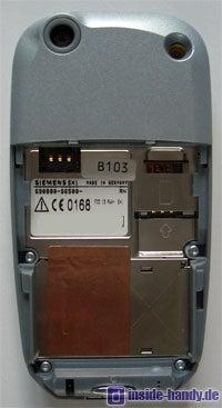 Siemens SX1 - Rückseite ohne Abdeckung