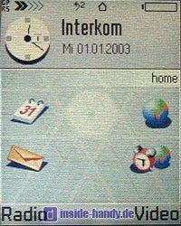 Siemens SX1 - Standard Bildschirm