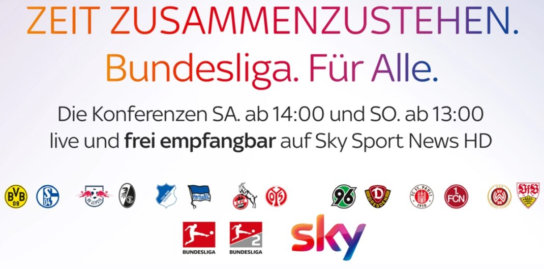 Sky-Ankündigung: Bundesliga im Free-TV