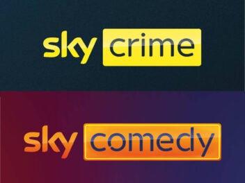 Sky Crime und Sky Comedy Senderlogos