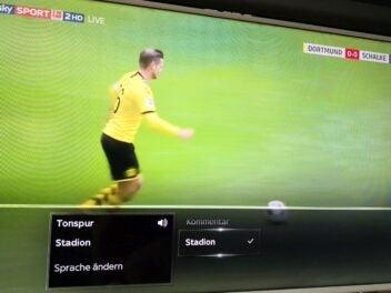 Sky Bundesliga mit Stadionton