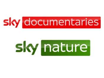 Logos von Sky Documentaries und Sky Nature.