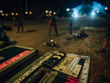 Dreharbeiten am Set eines Sky Originals.
