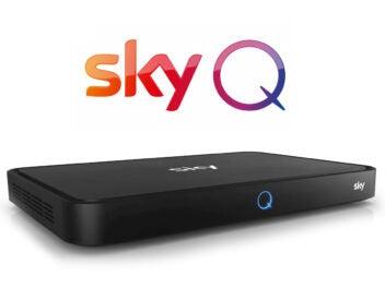 Sky Q Receiver und Sky Q Logo