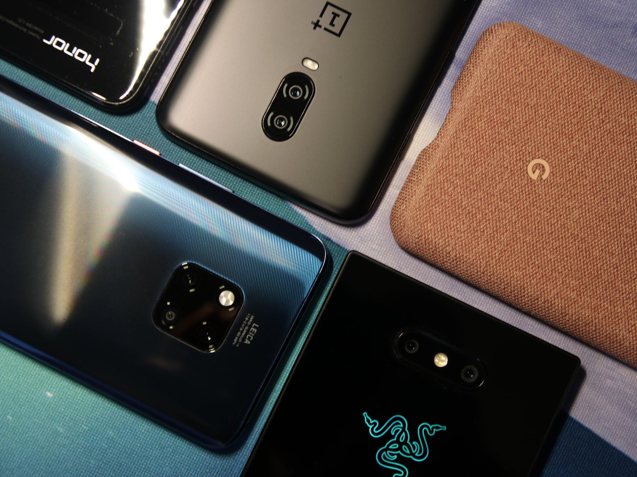 Huawei Mate 20 Pro, Razer Phone 2, Google Pixel 3 XL, OnePlus 6T und Honor 8X